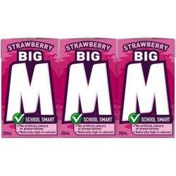 M2GO STRAWBERRY UHT MILK 6X250ML