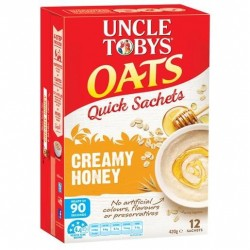 QUICK OATS CREAMY HONEY BREAKFAST CEREAL 12PK