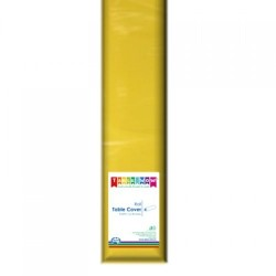YELLOW PLASTIC TABLE COVER ROLL 1EA