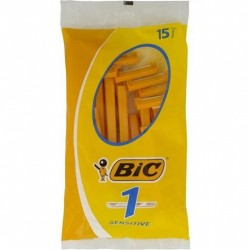 BIC DISPOSABLE SHAVER SENSITIVE 15S