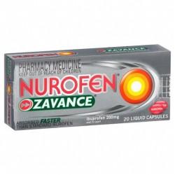 NUROFEN ZAVANCE LIQ CAPS 20S