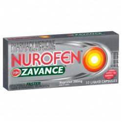 NUROFEN ZAVANCE LIQ CAPS 10S