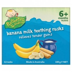 RAFFERTY BANANA MILK RUSKS 100GM