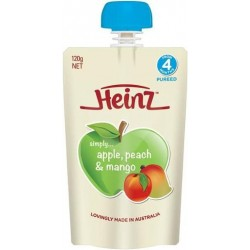 BABY FOOD SIMPLE APPLE PEACH MANGO 4MONTH 120GM