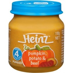 STRAINED PUMPKIN POTATO BEEF BABY FOOD 110GM