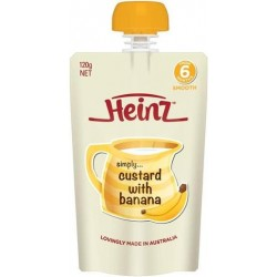 HEINZ SIMPLY BANANA CUSTARD POUCH 120GM