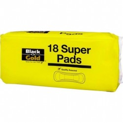 B/GOLD ADHES PAD SUPER 18S