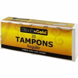 B/GOLD TAMPON REGULAR No.20S