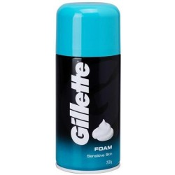 GILLETTE SHAVE CREAMY FOAMY SENSITIVE 250GM