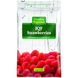 STRAWBERRIES INDIVIDUALLY QUICK FROZEN 1KG