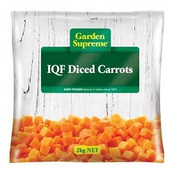 DICED CARROT IQF 2KG