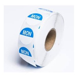 MONDAY 24MM ROUND REMOVABLE LABELS 1000'S