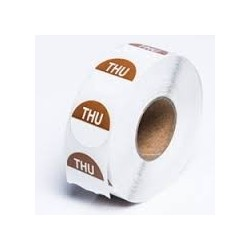 THURSDAY 24MM ROUND REMOVABLE LABELS 1000'S