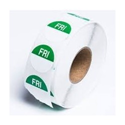FRIDAY 24MM ROUND REMOVABLE LABELS 1000'S