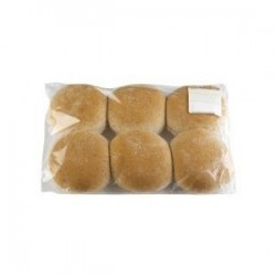 WHOLEMEAL ROUND ROLLS 6PKT 540GM