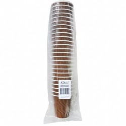 COOL WAVE CUP BROWN 8OZ 25S