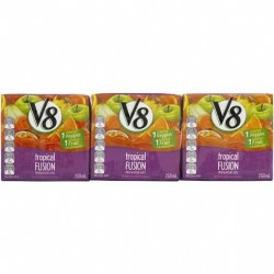 V8 JUICE FRUIT & VEGETABLE TROPICAL 3X250ML