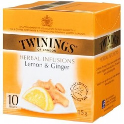 LONDON HERBAL INFUSIONS LEMON AND GINGER TEA BAG 10S