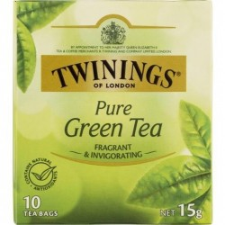 PURE GREEN TEABAGS 10S