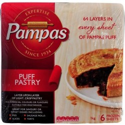 PUFF PASTRY SHEETS 6 PACK 1KG