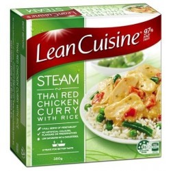 THAI RED CHICKEN CURRY WITH RICE STEAM MEAL 380GM