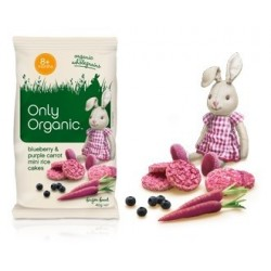 ONLY ORGANIC BABY RICE CAKES PURPLE CARRT 40GM