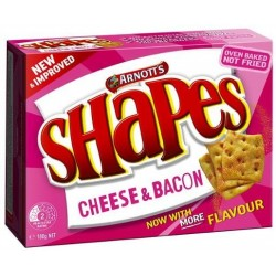 SHAPES CHEESE AND BACON 180GM