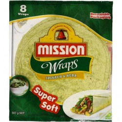 WRAPS SPINACH AND HERB 8PK 567GM