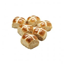 HOT CROSS BUNS FRUIT FREE 6PK