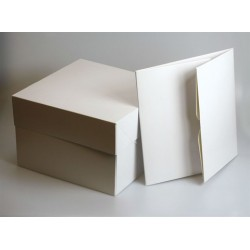 "9"" PLAIN CAKE BOX WHITE 25'S"