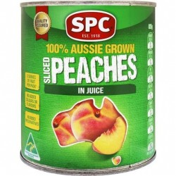 SLICED PEACHES IN NATURAL JUICE 825GM