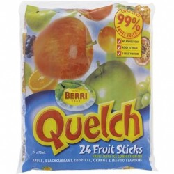 QUELCH FRUIT STICKS 24 x 70ml