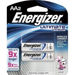 ULTIMATE LITHIUM E2 AA BATTERY 2PK