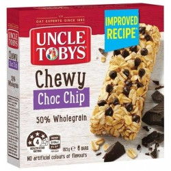 CHEWY CHOC CHIP MUESLI BAR 185GM