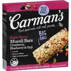 SUPER BERRY MUESLI BARS 5PK 175GM