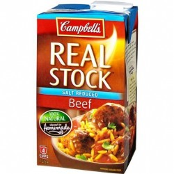 BEEF STOCK SALT REDUCED 1L