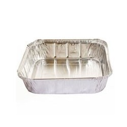 340ML DEEP SINGLE SERVE FOIL SQUARE CONTAINERS C7313 100'S