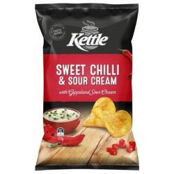 SWEET CHILLI AND SOUR CREAM POTATO CHIPS 175GM