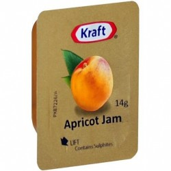 APRICOT JAM PORTIONS 75X14GM