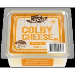 COLBY SLICED CHEESE 250GM