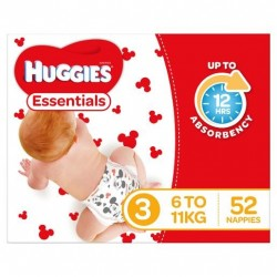 ESSENTIALS CRAWLER SIZE 3 NAPPIES 6-11KG 52PK