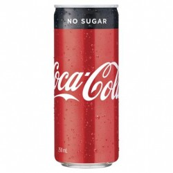 COCA COLA NO SUGAR CAN 250MLX24