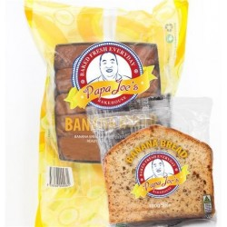 INDIVIDUALLY WRAPPED BANANA BREAD SLICED 40X100GM