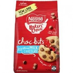 MILK CHOC BITS 200GM