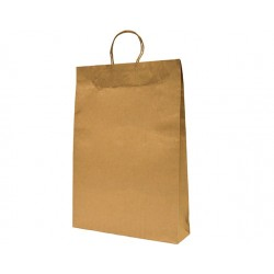 MEDIUM BROWN PAPER BAG WITH PAPER HANDLES W280XG150XL280MM 200S