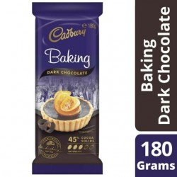 DARK BAKING CHOCOLATE  45%COCOA 180GM