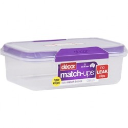 OBLONG CONTAINER WITH CLIP LIDS 2LT