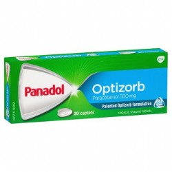 PANADOL CAPLETS WITH OPTIZORB 20S