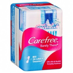 CAREFREE LINERS BARELY THERE UNSCENTED 24S