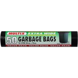 GARBAGE BAGS EXTRA WIDE ROLL 85CM X 7CM 56...